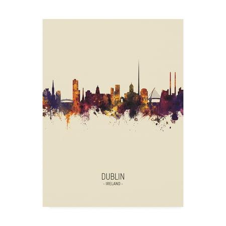 Trademark Fine Art 'Dublin Ireland Skyline Portrait III' Canvas Art by Michael Tompsett ()