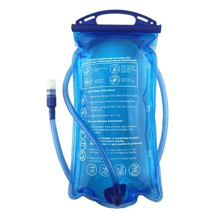 Hydration Bladder 2/3 Liter Leak Proof Water Reservoir, Military Water Storage Bladder Bag, BPA Free Hydration Pack Replacement, for Hiking Biking Climbing Cycling Running, Large Opening, Blue