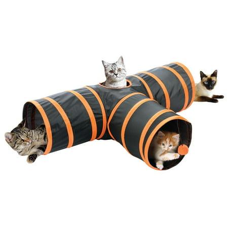 Fun Pet Cat 3 Way Crinkle Tunnel Cat Toy