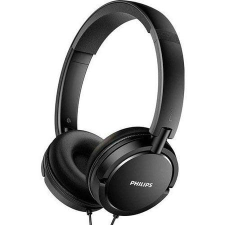 Philips Over The Ear Headphones Foldable Stereo Extra Bass Portable Headphones Headset SHL Series Lightweight 3.5mm Jack Plug Extra Bass Series Headphones