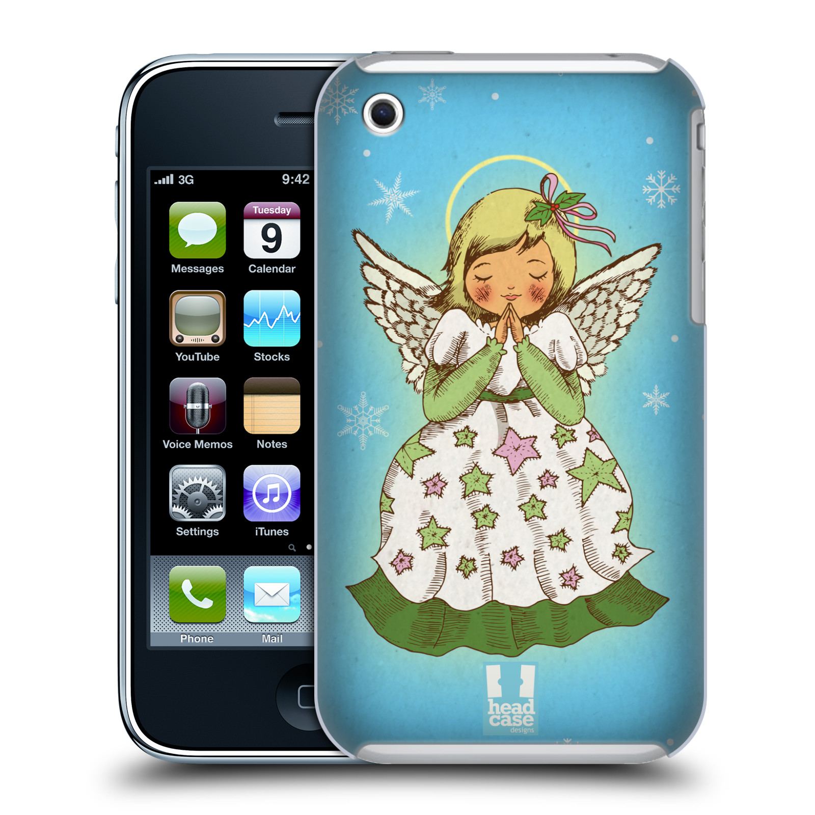 HEAD CASE DESIGNS CHRISTMAS ESSENTIALS HARD BACK CASE FOR APPLE IPHONE PHONES