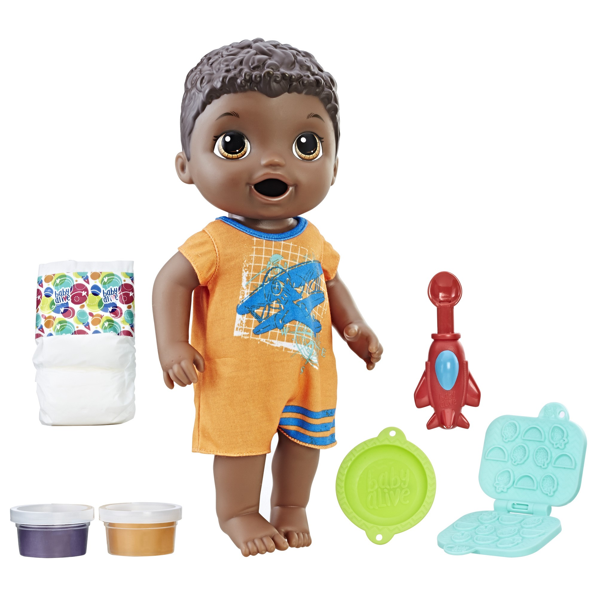 Baby Alive Super Snacks Snackin/' Luke Brunette ,Brown