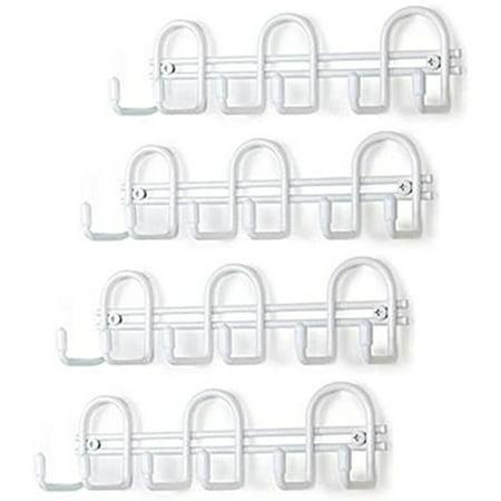 Set of 4 Spectrum Mini White Shelving Key Rack Organizers 7-1/2