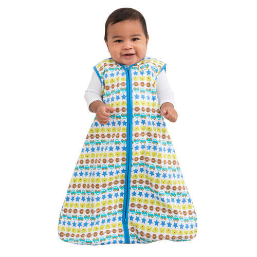 HALO SleepSack Blue Striped Cars Cotton Wearable Blanket