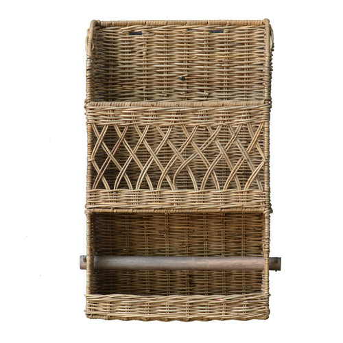 Antique Revival 11.75'' x 20'' x 5'' Owen Wall Basket