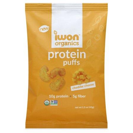 iWon Organics Protein Puffs - Cheddar Cheese Size: One Pack Organic Corn Puffs