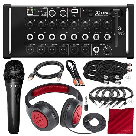 behringer x air xr16 digital mixer with wi fi and usb recorder with samson headphones xpix. Black Bedroom Furniture Sets. Home Design Ideas