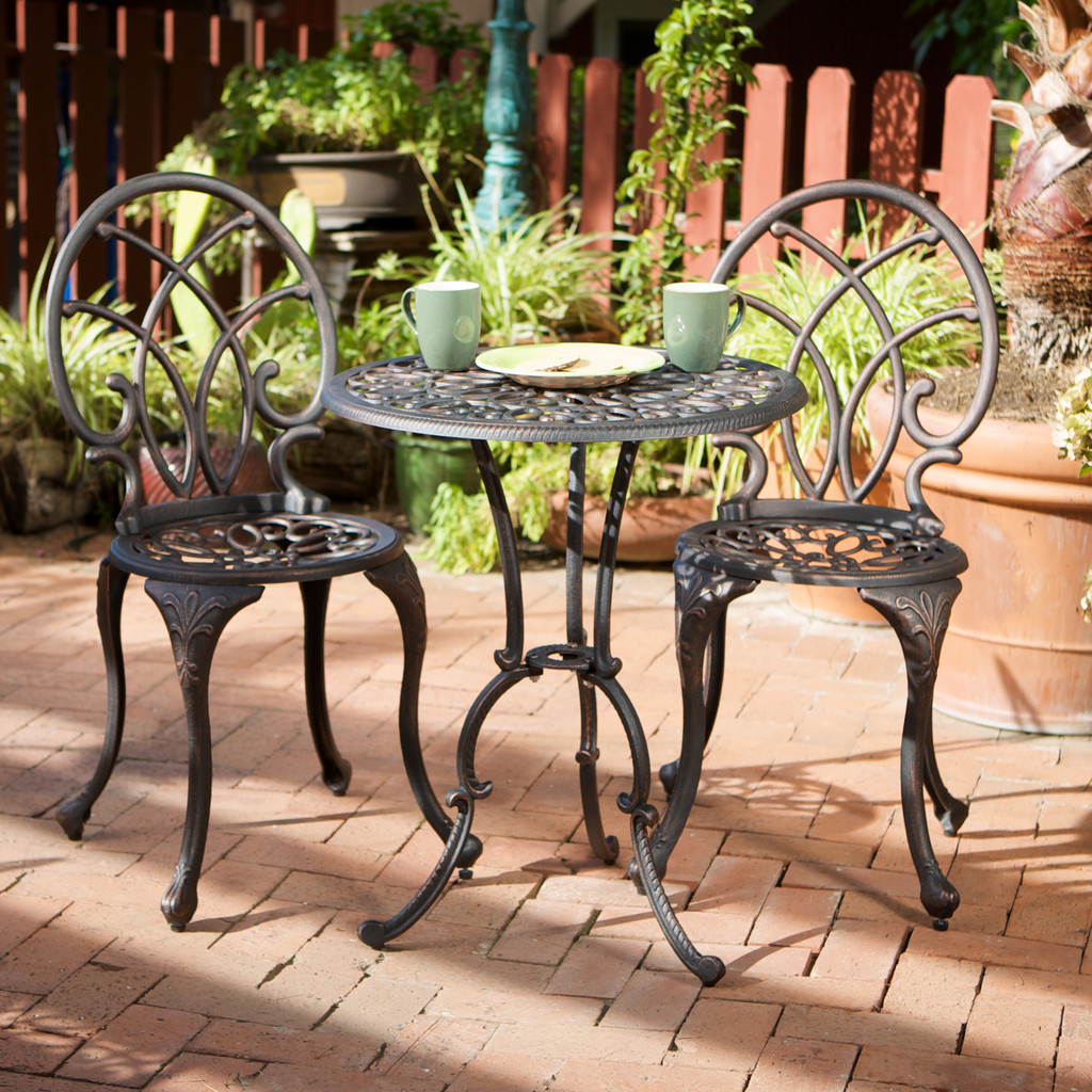 Cisco Aluminum Copper Bistro Set