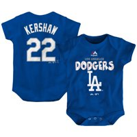 Clayton Kershaw Los Angeles Dodgers Majestic Newborn & Infant Stitched Player Name & Number Bodysuit - Royal