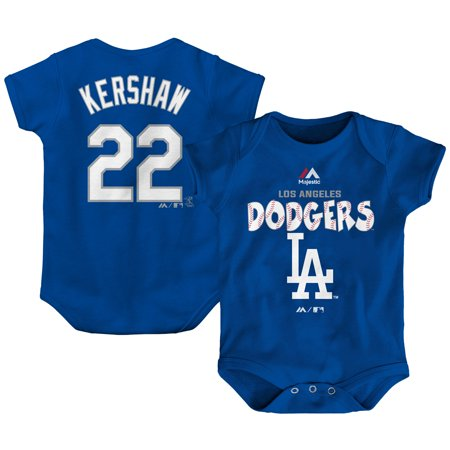 Dover Blanket - Clayton Kershaw Los Angeles Dodgers Majestic Newborn & Infant Stitched Player Name & Number Bodysuit - Royal