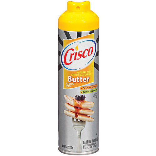 Crisco No-Stick Butter Cooking Spray, 6 oz