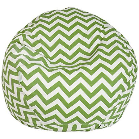 Majestic Home Goods Classic Bean Bag Chair - Chevron Giant Classic Bean Bags for Small Adults and Kids (28 x 28 x 22 Inches) (Sage Green) - image 1 de 1