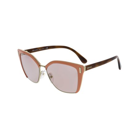 Prada Women's Mirrored PR56TS-VHQ4M2-57 Pink Cat Eye Sunglasses (Prada Cat Eye Brille)