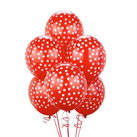 Birthday Express 230789 Red with White Dots Balloons -