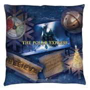Polar Express Scene Shapes Throw Pillow White 14X14
