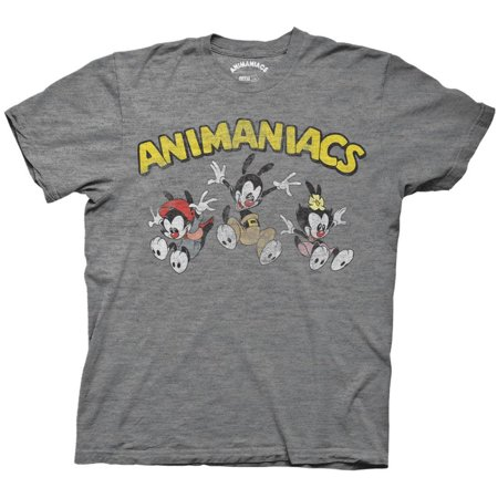 Animaniacs   Jumping Group Apparel T Shirt   Grey