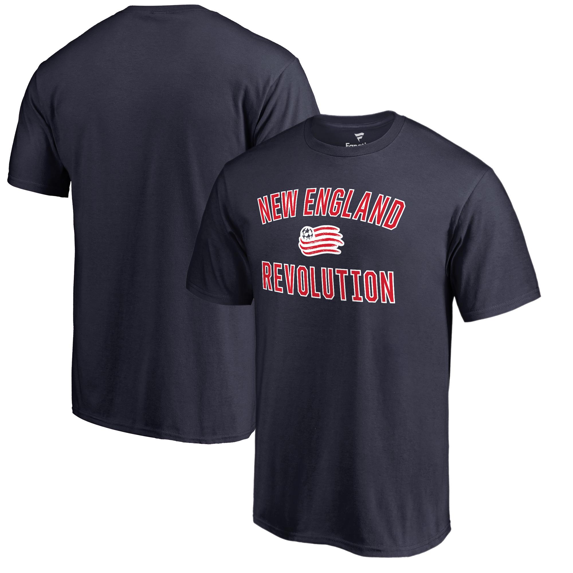 New England Revolution Fanatics Branded Victory Arch T-Shirt - Navy