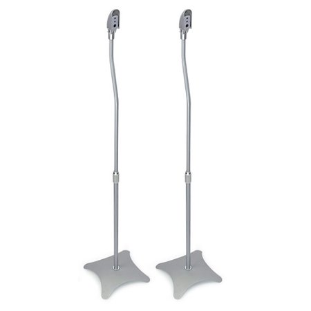 Mount-it Adjustable Height Speaker Stand (Set of 2)