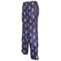 Illinois Fighting Illini Kids School Logo Pajama Pants - Navy