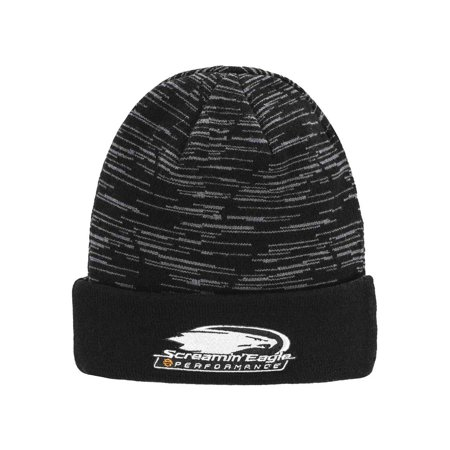 Harley-Davidson Men's Screamin' Eagle Reversible Cyclone Knit Cap HARLMH0337, Harley (Reversible Player Knit)