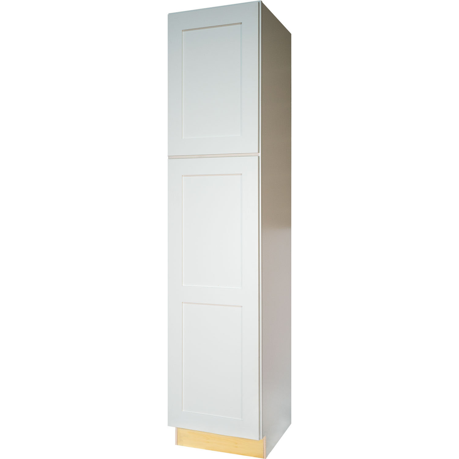 Everyday Cabinets 18 Inch White Shaker Pantry / Utility Kitchen Cabinet
