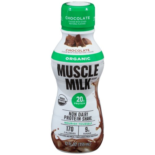 Muscle Milk? Organic Chocolate Non Dairy Protein Shake 12 fl. oz. Bottle