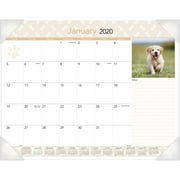 At-A-Glance Puppies Monthly Desk Pad Calendar, 22 x 17, 2018 - AAGDMD16632