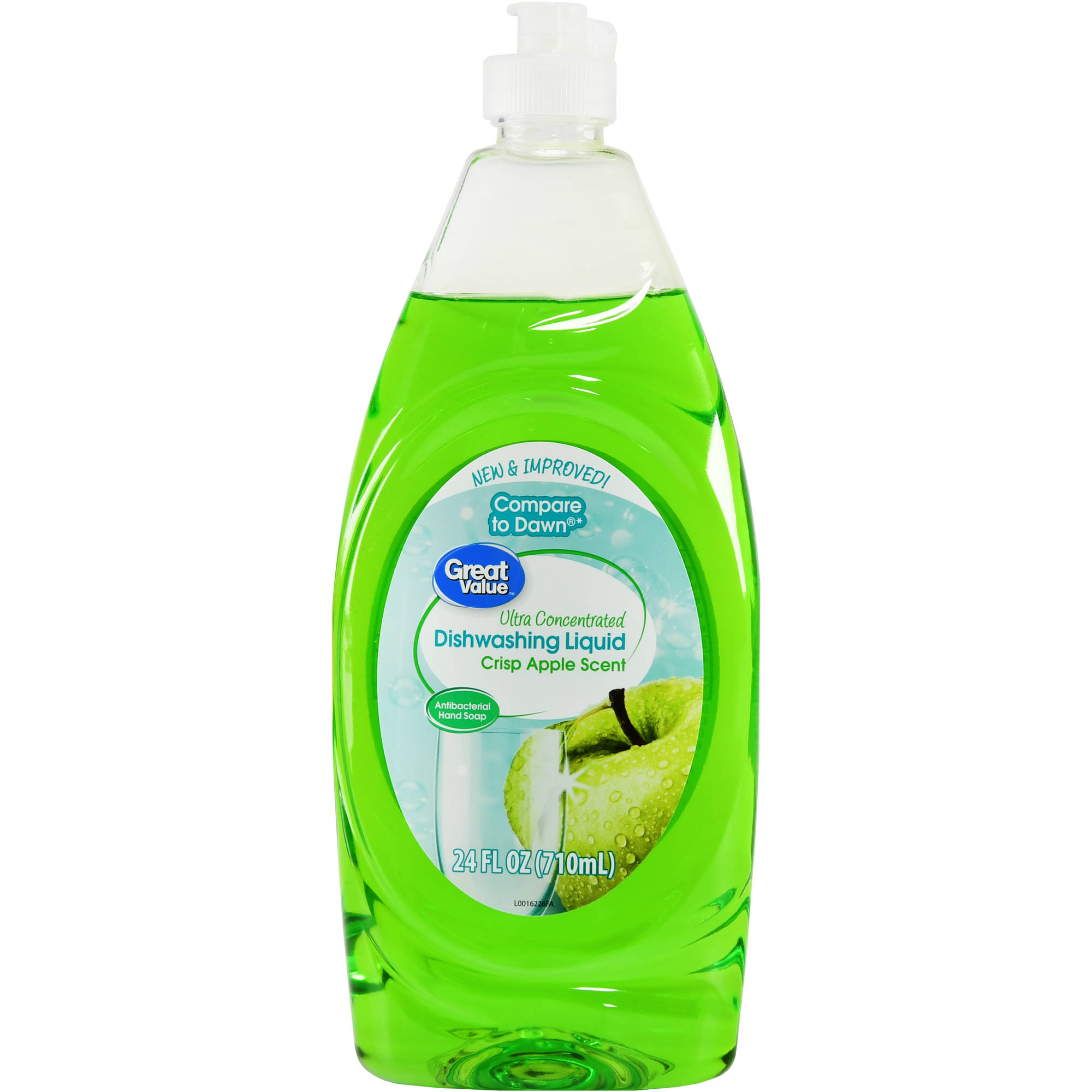 Great Value Ultra Concentrated Dishwashing Liquid, Crisp Apple Scent, 24 fl oz