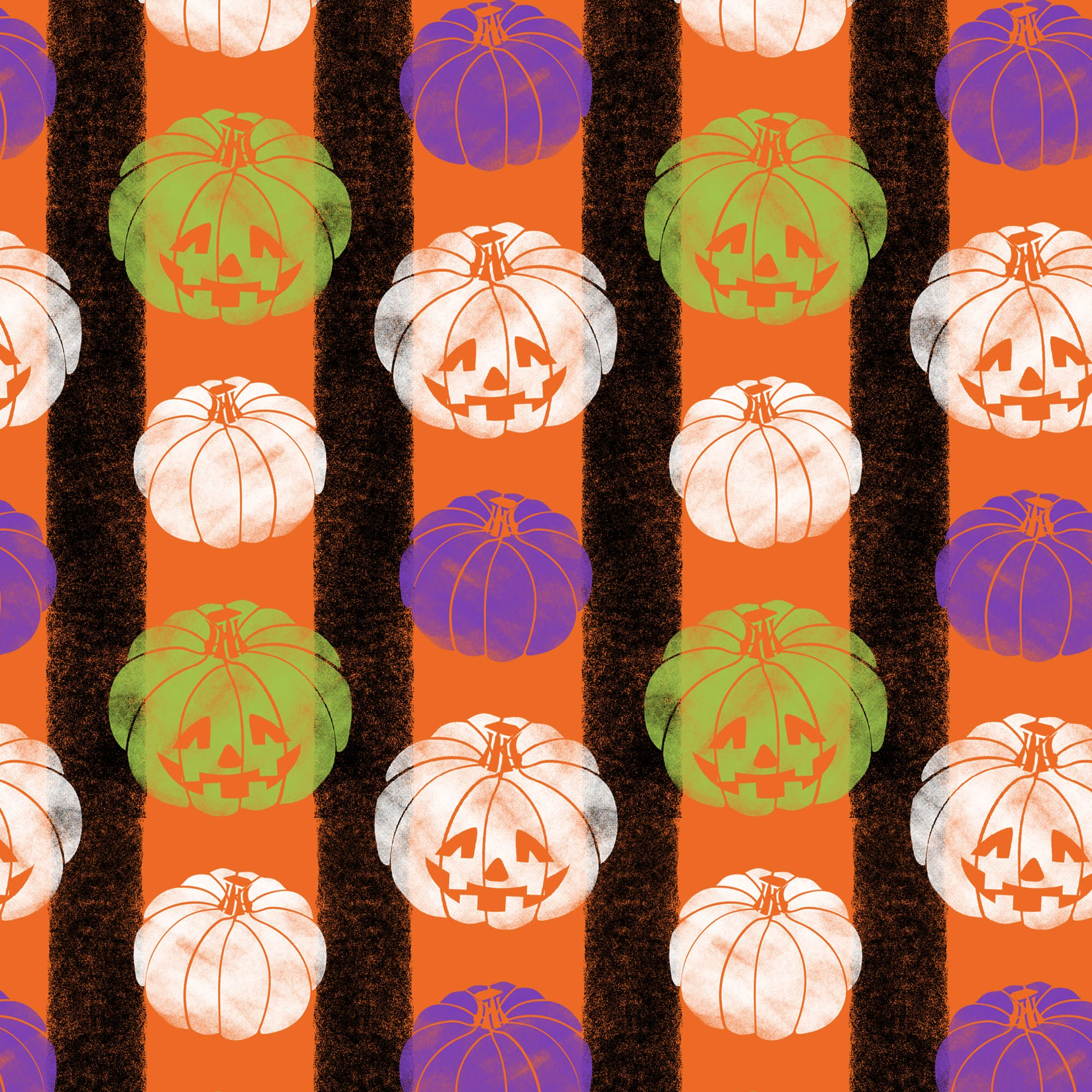 DAVID TEXTILES PUMPKIN STRIPE FABRIC BY THE YARD, 44 INCHES WIDE