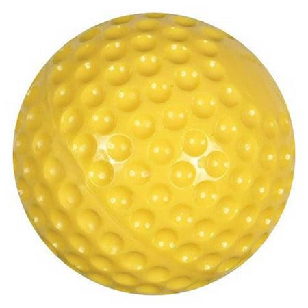 Champro Atec Pitching Machine Balls (Dozen) Soft Dimpled Baseball Yellow CBB-57 Dimpled Pitching Machine Balls Softball