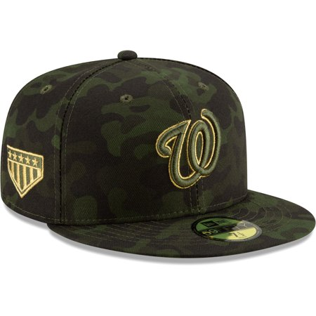 Washington Nationals New Era 2019 MLB Armed Forces Day On-Field 59FIFTY Fitted Hat - Camo (Washington Nationals Green Hat)