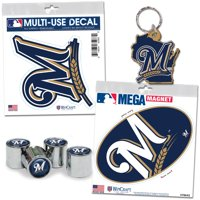 Milwaukee Brewers WinCraft 4-Pack Auto Accessory Kit