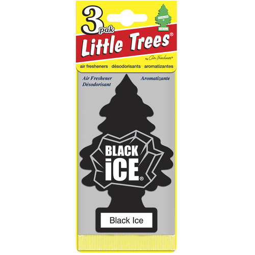 Little Tree Air Freshener, 3pk, Black Ice