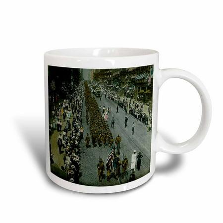 3dRose New York City Parade WWI 1918, Ceramic Mug, 11-ounce - New York Halloween Parade 2017