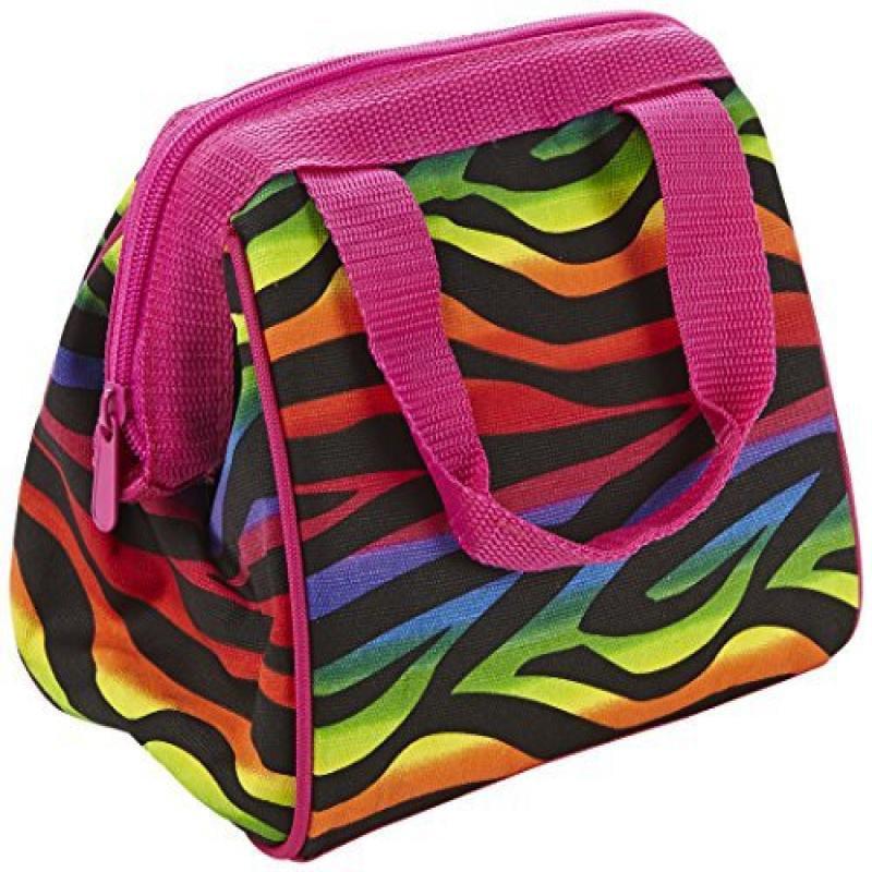 Fit & Fresh Kids Riley Insulated Lunch Bag, Rainbow Zebra...