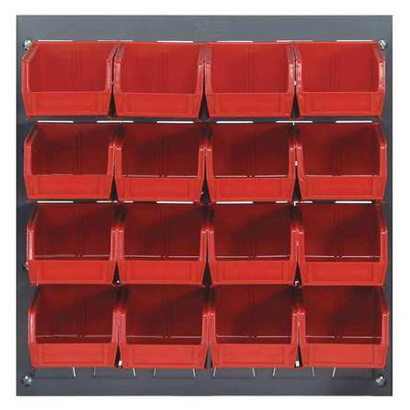 Louvered Rack - QUANTUM STORAGE SYSTEMS QLP-1819-220-16RD Louvered Bench Rack, 18 x 8 x 19 In,