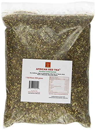 AFRICAN RED TEA Rooibos Tea Unfermented Loose Leaves 1 LB by The Rooibos Tea Company dba African Red Tea Imports