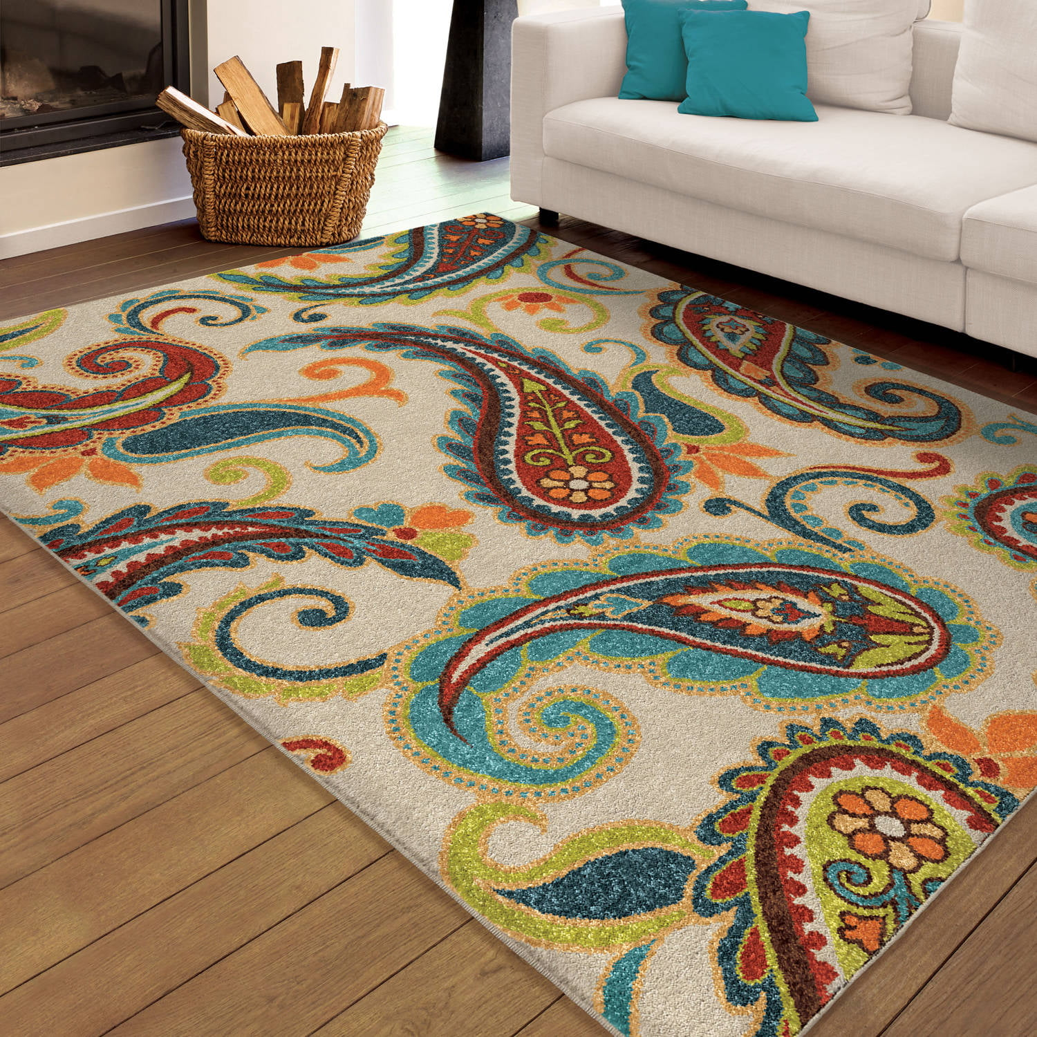 orian rugs paisley wyndham area rug walmartcom - Colorful Area Rugs