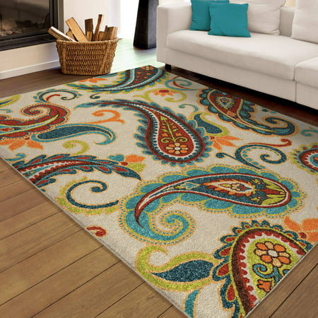 Orian Rugs Indoor Outdoor Paisley Wyndham Multi Colored