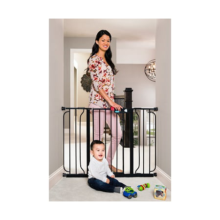 Regalo Easy Step Extra Wide Baby Gate, Black, 51 Inch](baby gate black friday deals)