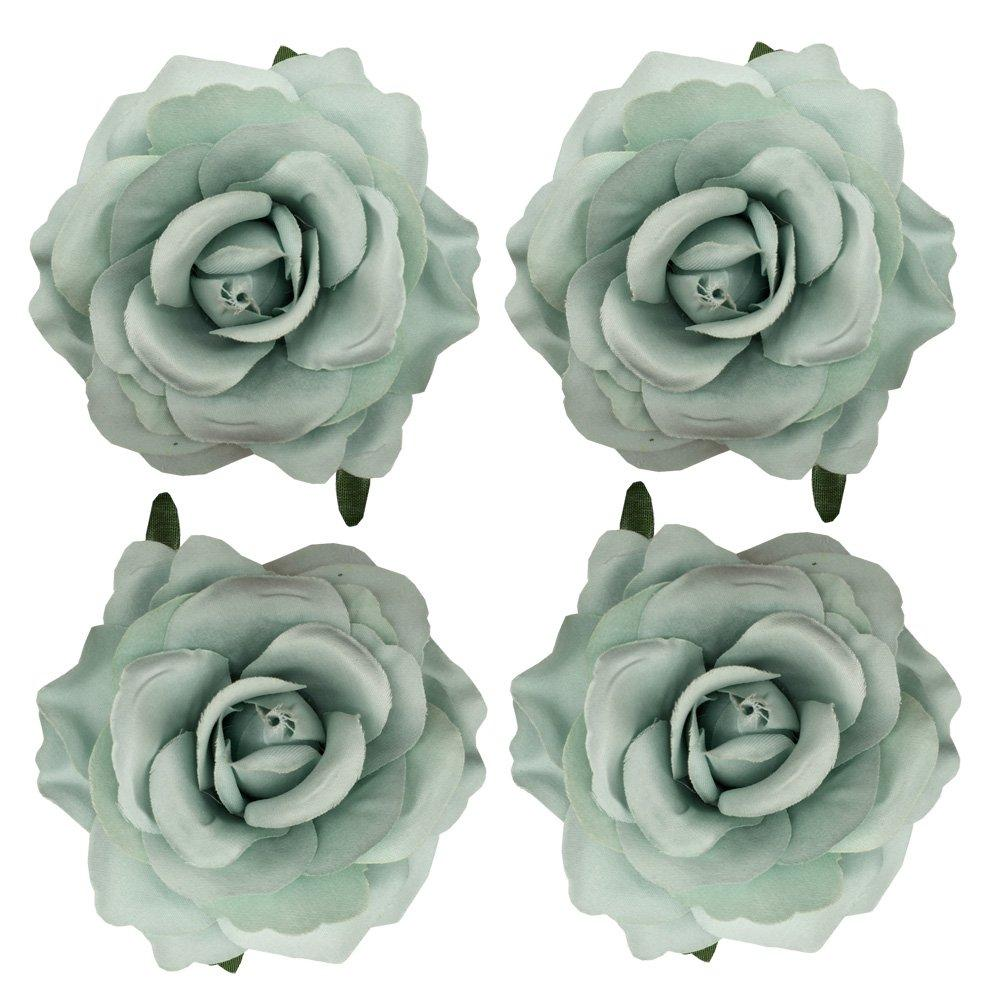 Sanrich 4pcs//pack Fabric Rose Hair Flowers Clips Mexican Hair Flowers Hairpin Brooch Headpieces