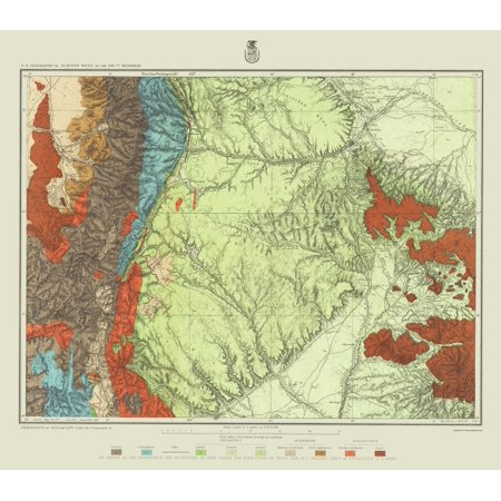 Topographical Map - Colorado, New Mexico Land Classification 1876 ...