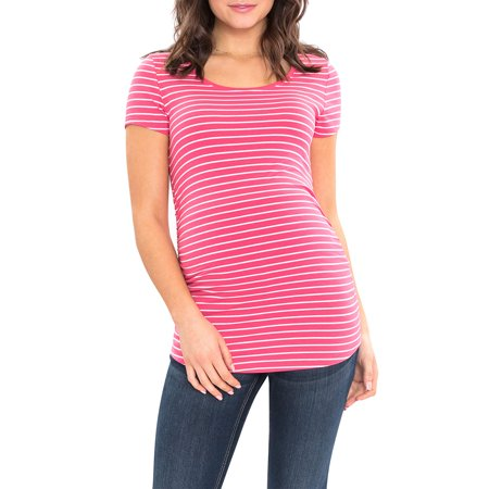 588062547766f Great Expectations Maternity Short Sleeve Scoop Neck Tshirt As low ...