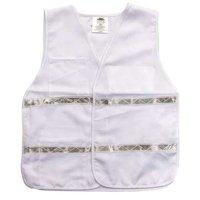 ZORO SELECT 8RHF7 Safety Vest,White,Universal