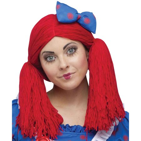 Raggedy Ann Wig Halloween Accessory (Long Red Wigs Halloween)
