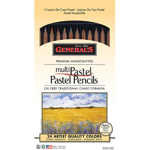 General Pencil Multi Pastel Pencils, 24/pkg