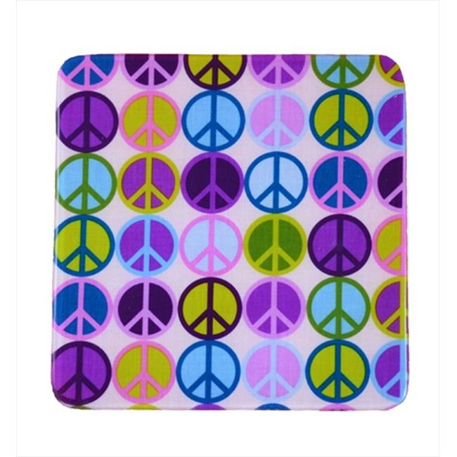 Andreas TRS-950 8. 25 inch Peace Square Silicone Trivet - Pack of 3