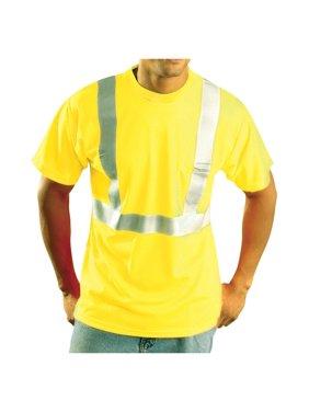 Rugged Blue Class 3 High-Vis Wicking Shirt Hi-Viz Yellow XL
