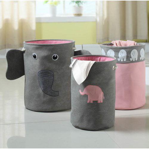 Bintopia 3-Piece Elephant Storage Hamper, Multiple Colors by Target Marketing