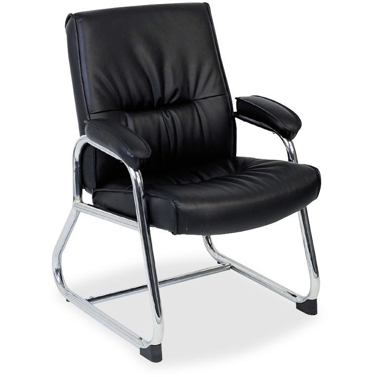 Lorell Bridgemill Leather Guest Reception Waiting Room Chair